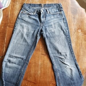7 for all mankind dojo Trouser flare wide size 29